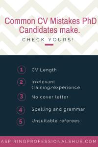 4. CV Mistakes
