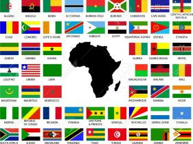 11669993-collection-of-african-flags-with-continent-stock-vector